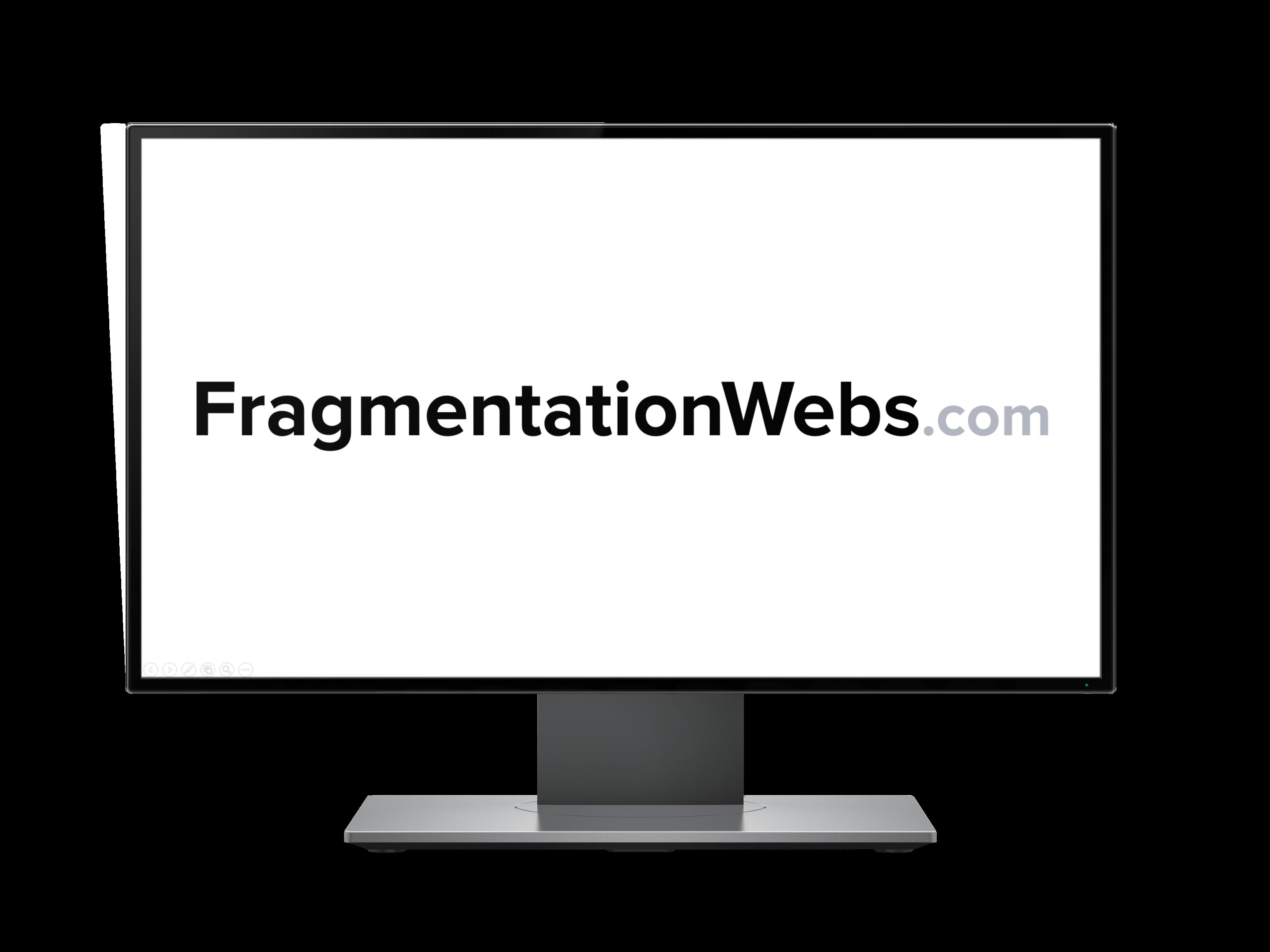 FragmentationWebs Monitor - White BG